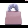 Blumari Firenze Cittadino Pink elegáns kézitáska,szőrme fogantyúval