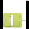 Modern kézi tárca telefon, irat/és pénz tartó lime színben