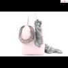 Marlon rózsaszín női bőr válltáska