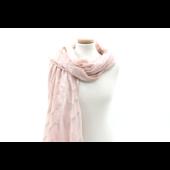 Butterfly rózsaarany cikkcakk mintás rózsaszín női sál