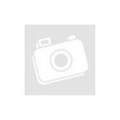 3 részes szett - ezüst színű női bőr válltáska és pénztárca rózsaszín mintás sállal