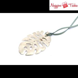 Pálma leveles hosszú nyaklánc, arany színű medál