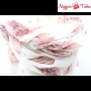 Butterfly rózsaszín virágmintás aranyozott női sál