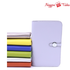 Modern kézi tárca telefon, irat/és pénz tartó szürke színben