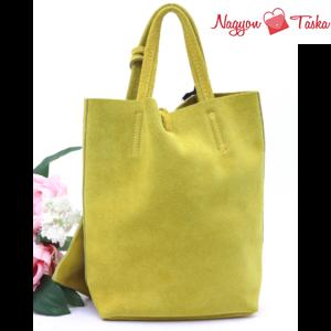 Marlon Mini Shopper bőr kézitáska mustár sárga színű