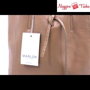 Marlon barna színű női bőr válltáska