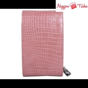 Red Cuckoo London telefontok krokodilbőr mintás pink