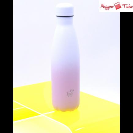 Duplafalú fémkulacs 500 ml fehér és rózsaszín