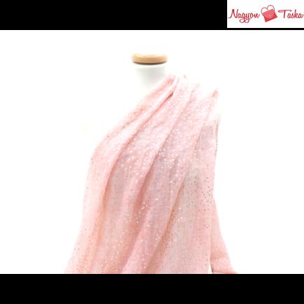 Butterfly rózsaarany pöttyös rózsaszín női sál