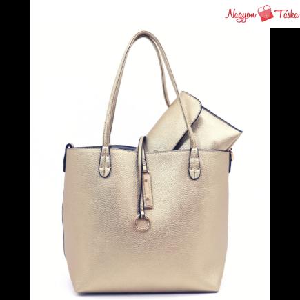 Kris-Ana kifordítható női táska arany vagy ezüst színben