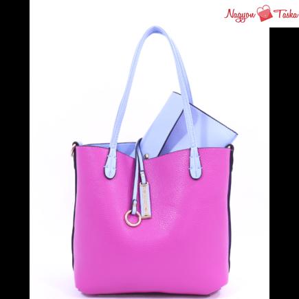 Kris-Ana kifordítható női táska fukszia rózsaszín vagy világos kék színben
