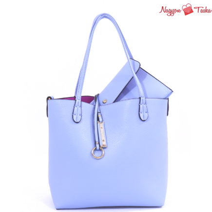 Kris-Ana kifordítható női táska világos kék vagy fukszia rózsaszín színben