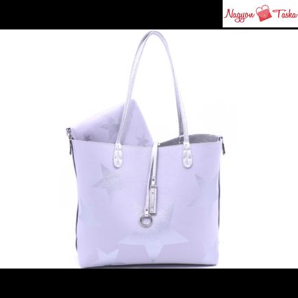 Kris-Ana London kifordítható női táska csillag mintával szürke vagy ezüst színben