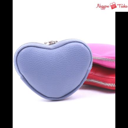 Szívalakú kulcstartó és pénztárca bőrből készült kézműves termék