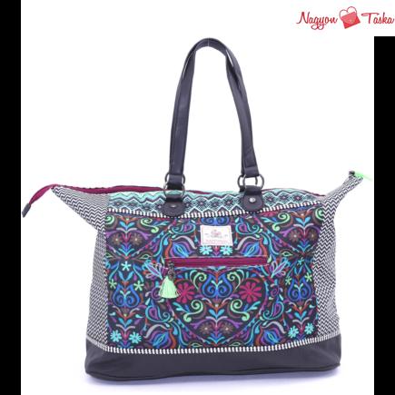 Kék mintás utazó táska