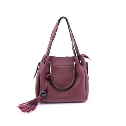 2-in-1 elegáns kisméretű bordó női táska