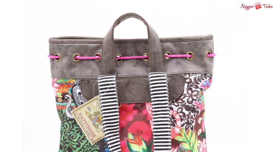 67cab24f9a56 Vidám színes női hátizsák - Nagyon Táska - Töltsd meg élménnyel!